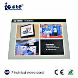 Mejor precio de 7 pulgadas LCD Folleto Vídeo- Tarjeta de video en la impresión