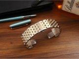 De Vlinder die van de Toebehoren van de band van het Horloge van de luxe Riem 7 vouwen van de Band van het Roestvrij staal van de Gesp band van het Horloge van de Armband van de Links van Parels de Stevige