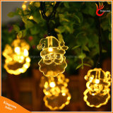Lumières solaires extérieures de chaîne de caractères des lampes 20LED de décoration de fête de Noël de Santa