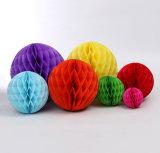 Orden de venta al por mayor pañuelos de papel pelota panal suministros de fiesta