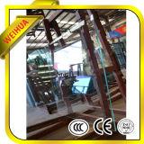 Vidro Tempered liso e curvado do baixo ferro para o edifício comercial