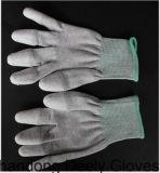 Het antistatische Uiteinde Pu van de Vinger bedekte Verdwijnende Handschoenen met een laag