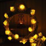 크리스마스 나무 훈장 로즈 펀던트 LED 빛이 휴일 시간에 의하여 점화한다