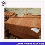 Materiais de construção amigável Envrionment Tipo de madeira revestida a pedra telha de Aço