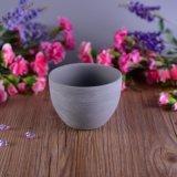 Ciotola di ceramica verniciata cemento grigio del Matt per la fabbricazione della candela