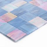 Moderne Art-blaue Glasfliese für Küche-Wand