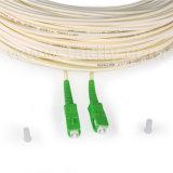 Sc APCのシンプレックスかデュプレックスアイボリーの光ファイバケーブルのパッチ・コード