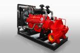 O motor diesel da bomba de incêndio centrífuga Horizontal