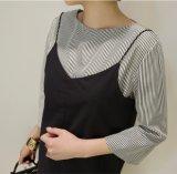 Hochwertiges zweiteiliges Shirt-Dame-Klammer-Kleid