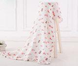 La manta de la muselina del bebé de la alta calidad Swaddle la manta con diseño elegante