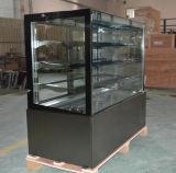 Bolo de vidro da base de mármore Exibir frigorífico para padaria recordações(ST780V-M)