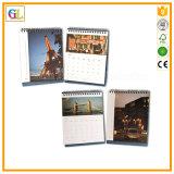 2018 impressão do calendário de mesa do OEM, calendário relativo à promoção