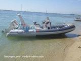 Liya 6.2m Boot van de Glasvezel van de Boot van de Rib de Stijve Opblaasbare voor Verkoop