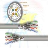 Cable de LAN del cable de la red del producto Cat5 UTP de la fábrica con la transmisión 4pairs 24AWG del 100m