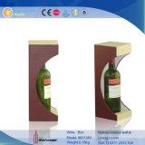 Cuero PU Pantalla decorativa titular de la botella de vino envasado (6015)