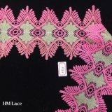 testo fisso Non-Elastico dentellare del merletto di 14cm, merletto Hme866 della guarnizione della frangia della nappa dei fiori