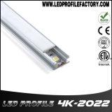 Manica di alluminio di profilo di 2m con il diffusore per l'indicatore luminoso di striscia del LED