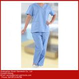 Уход способа Scrubs стационар равномерная, котор медицинская Scrubs с карманн (H19)