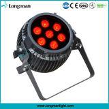 7X14W Rgbawuv resistente al agua de la batería LED Iluminación Inalámbrica
