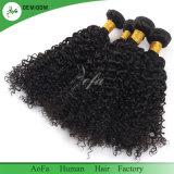 直接工場卸売のねじれた巻き毛のバージンの人間の毛髪の拡張