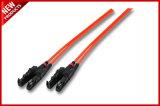 SC de 2.0mm aos cabos de correção de programa óticos da fibra Singlemode frente e verso do SC
