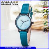 Crear los relojes de las mujeres para requisitos particulares del regalo de la correa de cuero del asunto del reloj (WY-122D)
