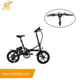 Mini tipo plegable bici eléctrica 16inch de la ciudad de dos colores