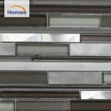 Tiras de color gris aluminio mayorista mosaico de vidrio