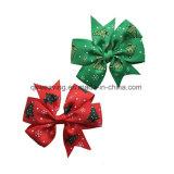 머리핀 머리 활 머리 악대를 인쇄하는 크리스마스 나무