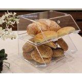 """Acrylique boulangerie empilables présentoir acrylique Support de stockage de l'organiseur d'accueil pour les bagels avec un support articulé, inclinée de la porte 11 7/8"""" X 11""""D x 6""""H"""
