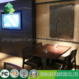 Cadeiras modernas do Rattan da mobília da entrada da mobília de Foshan e tabelas de madeira