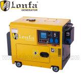 генератор 6kw 10HP портативный тепловозный молчком с колесами