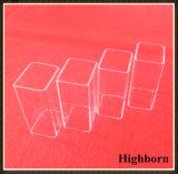 Tubo di vetro quadrato trasparente del quarzo del silicone