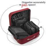 7 In1は洗濯の洗面用品の靴袋とセットされる荷物の圧縮のスーツケース旅行オルガナイザー袋を防水する