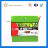 Cadre ondulé de empaquetage rigide personnalisé de carton de goyave d'impression polychrome avec le guichet de PVC