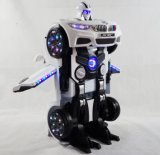 2017 New Transformation Robot Laughs on Car Toy for Kids