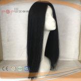 Cheia de cabelo humano Black Lace Peruca (PPG-l-04187)