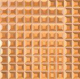 Parede da sala de estar Mosaico Espelho Dourado (R530001)