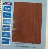 Papel de aluminio de madera del grano del grano rojo de la nuez