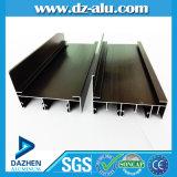 Profil 6063 T5 en aluminium pour le fini de moulin de tissu pour rideaux de guichet de la Tanzanie