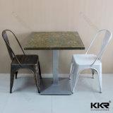 Armazenar mármore mesas de jantar comercial superior
