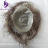 Toupee humain de système de cheveu de Vierge de peau mince libre de type