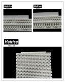 Hairise POM bianco Har-7300 irriga il nastro trasportatore di griglia