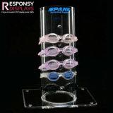 Support acrylique de lunettes de crémaillère de lunettes de soleil de partie supérieure du comptoir de présentoir