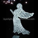 Ángel de luz LED Navidad Decoración de Navidad de la fábrica