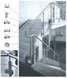 De Toebehoren van het Traliewerk van het Terras van het Roestvrij staal van de Montage van de Pijp van de Leuning van het Glas van Frameless voor het Traliewerk van de Trede/Balkon Handrial
