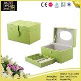 4つのカラーカスタム二重層の革宝石箱の包装(8040)