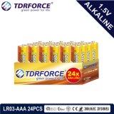 1.5volt primaire Droge Alkalische Batterij met Ce/ISO 24PCS/Box 5 Jaar Van de Houdbaarheidsperiode (LR03/AM-4/AAA)