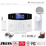 Segurança GSM sem fio inteligente de Alarme de Intrusão Doméstico com LCD e voz