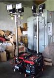 5KW de la torre de la luz de salida de CA con 4x100W lámparas de halogenuros metálicos